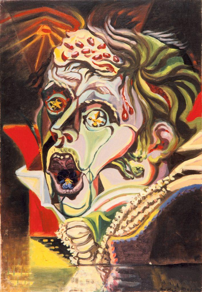 André Masson, Portrait du poète Heinrich von Kleist, 1939, Öl auf Leinwand, 55 × 38 cm, Privatsammlung, Foto: Archives Comité André Masson © 2019 VG Bild-Kunst, Bonn
