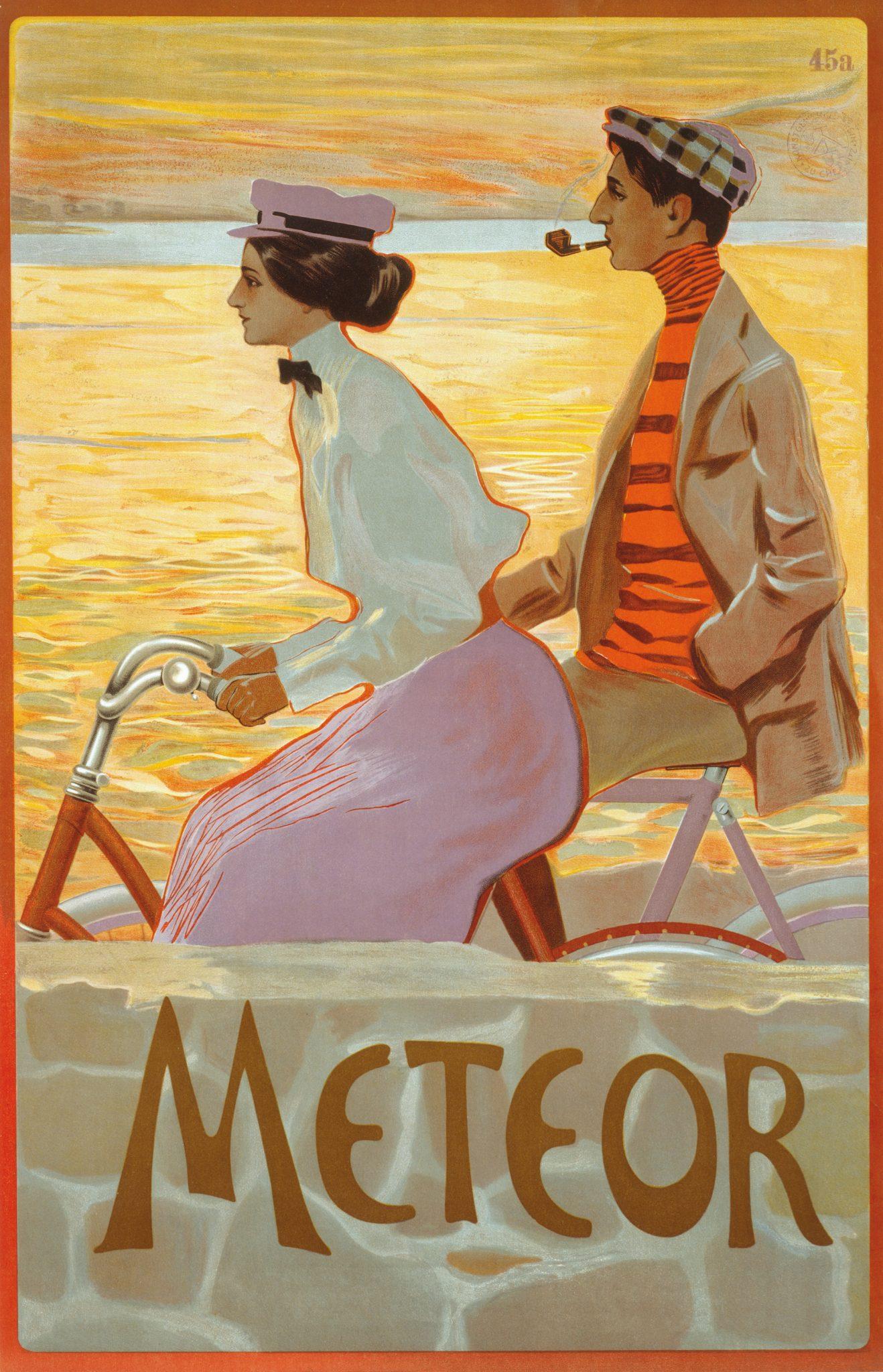 Plakat Meteor, um 1900, Farblithografie