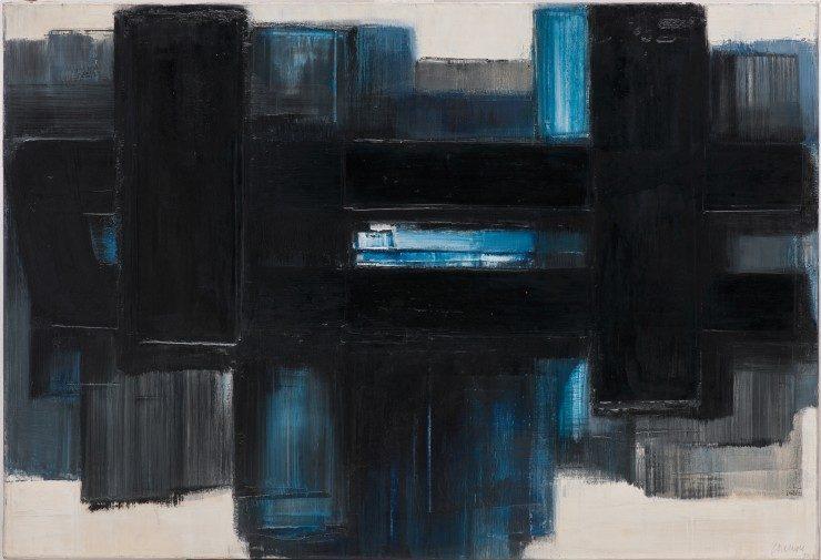 Pierre Soulages, Peinture 7 juillet 1957-1958, 1957-1958, Sprengel Museum, Hannover, Foto: bpk / Sprengel Museum Hannover / Michael Herling / Aline Gwose © VG Bild-Kunst, Bonn 2021