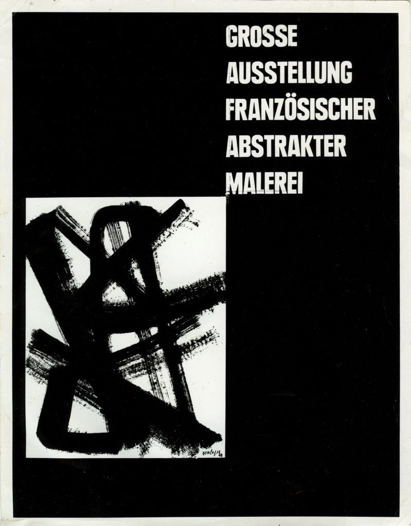 Plakat Ausstellung Franösischer Abstrakter Malerei, 1948, Sammlung Domnick, Nürtingen © Sammlung Domnick, Nürtingen