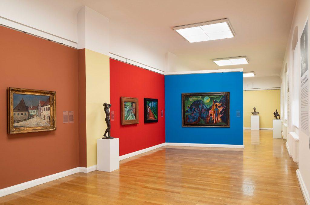 Raumabfolgen der Galerie der Moderne im 2. OG der Kunstsammlungen Chemnitz, 2020, Foto: Alexander Meyer