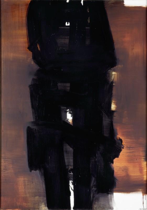 Pierre Soulages, Peinture, 202 ×143 cm, 31 décembre 1964, 1964, Öl auf Leinwand, 202 ×143 cm, Museum Ludwig, Köln © Rheinisches Bildarchiv, rba_c007593 © VG Bild-Kunst, Bonn 2021  © VG Bild-Kunst, Bonn 2021