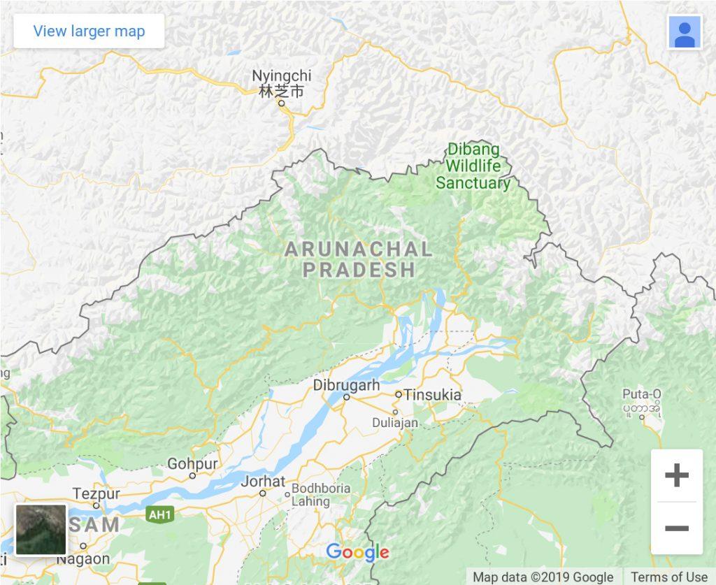 Simon Weckert, Google maps Boarders (Indien), 2019, Installation © VG Bild-Kunst, Bonn 2021