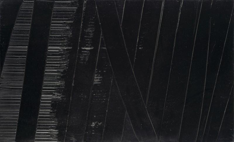 Pierre Soulages, Soulages-Peinture 102 × 165 cm 19 novembre 1990, 1990, Neue Galerie, Museumslandschaft Hessen Kassel  © Museumslandschaft Hessen Kassel © VG Bild-Kunst, Bonn 2021