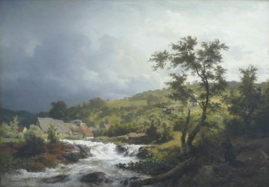 Andreas Achenbach (1815–1910), Landschaft nach Gewitter, 1855, Öl auf Leinwand, 45 x 63 cm , Kunstsammlungen Chemnitz, Foto: Kunstsammlungen Chemnitz/Detlef Göschel