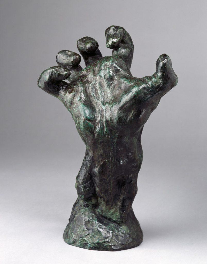 August Rodin (1840–1917), Aufgerichtete Hand , nach 1900/Guss 1913, Bronze, 46,5 x 30,5 x 19,5 cm, Kunstsammlungen Chemnitz, Foto: bpk/Kunstsammlungen Chemnitz/PUCTUM/Bertram Kober