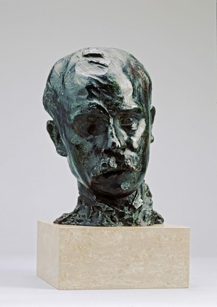 August Rodin (1840–1917), Octabe Mirbeau, 1889–1893/Guss vor 1913, Bronze, 27,5 x 19,5 x 22,5 cm, Kunstsammlungen Chemnitz, Foto: Kunstsammlungen Chemnitz/PUNCTUM/Bertram Kober