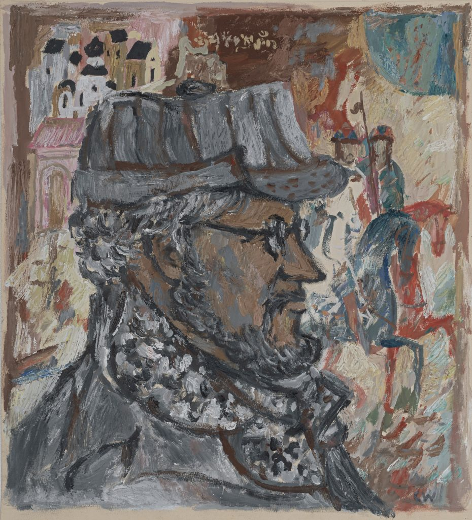 Carl-Heinz Westenburger (1924–2008), Kunstwissenschaftler in Karelien, 1970, Mischtechnik, 67 x 52,2 cm, Kunstsammlungen Chemnitz, Foto: Kunstsammlungen Chemnitz/László Tóth
