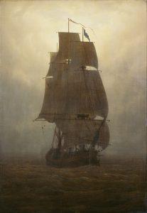 Caspar David Friedrich, Segelschiff, um 1815