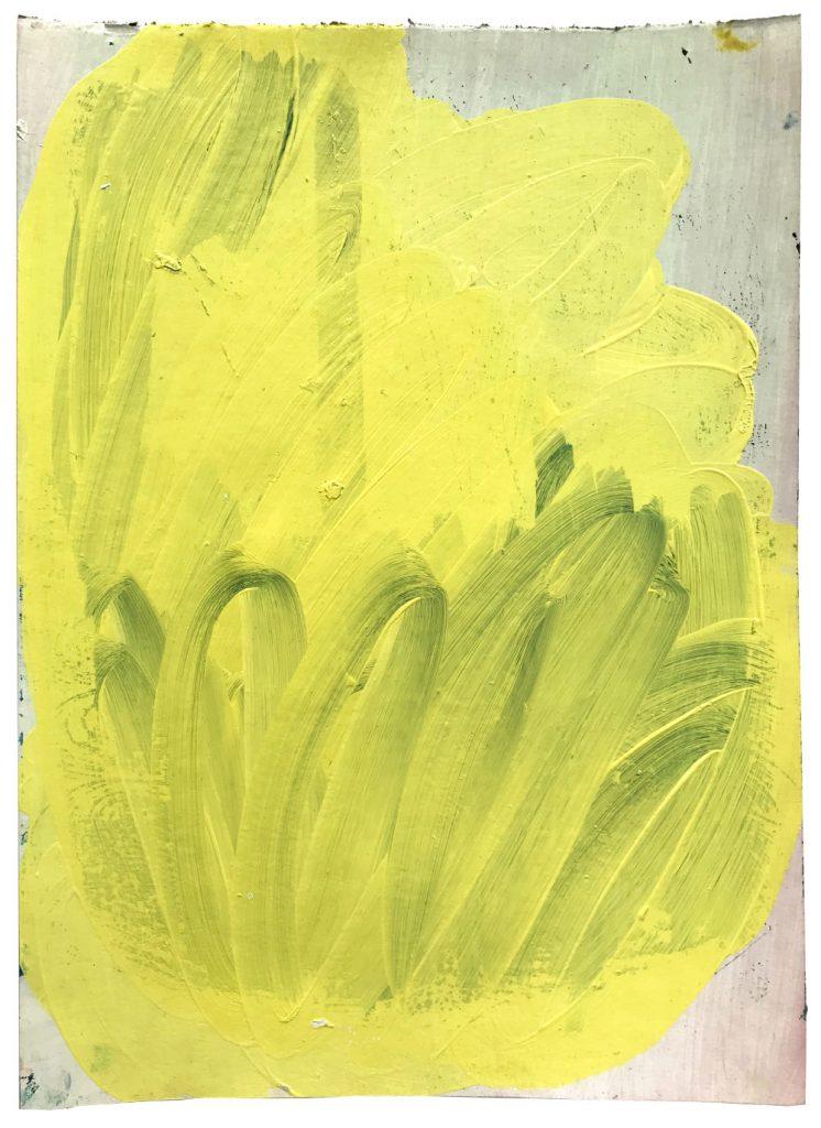 Christiane Bergelt, giallo spree, 2018, Öl auf Papier, 30,5 x 22 cm, im Besitz der Künstlerin, Foto: Torsten Stapel © VG Bild-Kunst, Bonn 2020