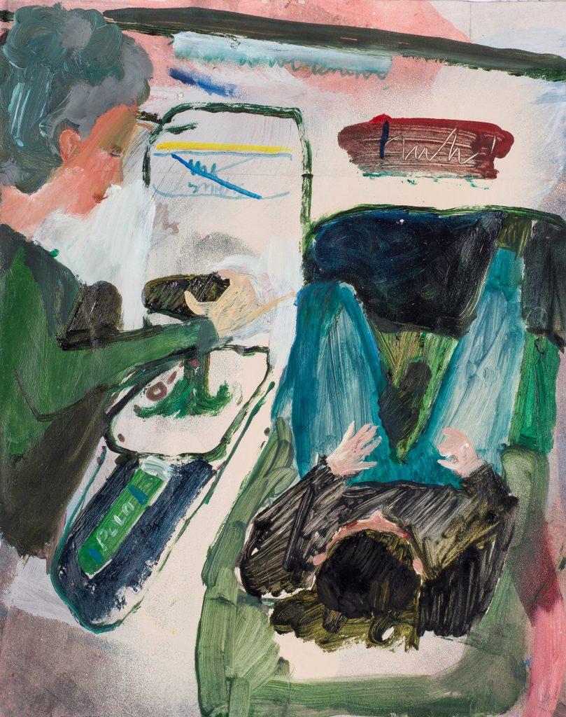 Christiane Bergelt, huh!, 2016, Mischtechnik auf Papier, 30,5 x 24,5 cm, im Besitz der Künstlerin, Foto: Torsten Stapel © VG Bild-Kunst, Bonn 2020