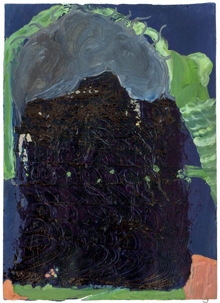 Christiane Bergelt, parisianveil, 2017, Mischtechnik auf Papier, 29,6 x 21,3 cm, im Besitz der Künstlerin, Foto: Torsten Stapel © VG Bild-Kunst, Bonn 2020