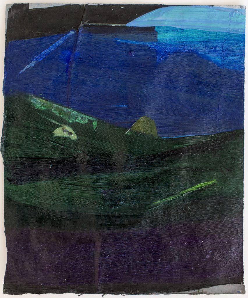 Christiane Bergelt, slick boulders, 2017, Öl auf Papier, 29,5 x 24,5 cm, im Besitz der Künstlerin, Foto: Torsten Stapel © VG Bild-Kunst, Bonn 2020