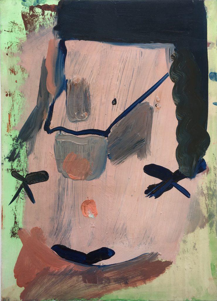 Christiane Bergelt, trost (rose), 2018, Öl auf Papier, 30,5 x 22 cm, im Besitz der Künstlerin, Foto: Torsten Stapel © VG Bild-Kunst, Bonn 2020