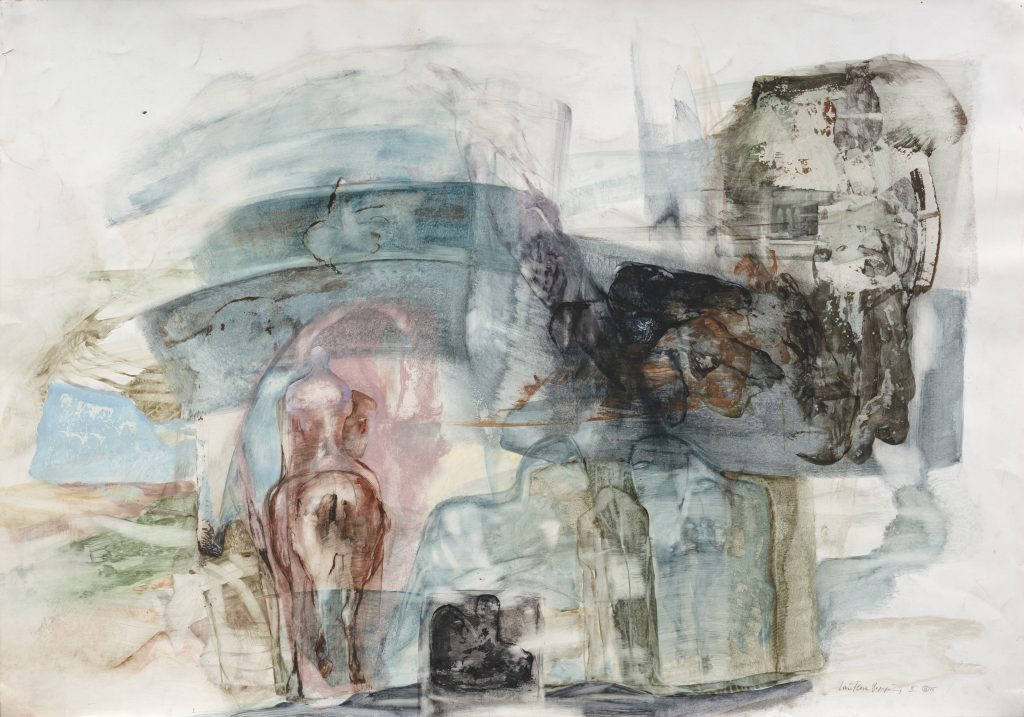 Dagmar Ranft-Schinke (*1944), Lautlose Begegnung III, 1975, Mischtechnik, 54,8 x 78 cm, Kunstsammlungen Chemnitz, Foto: Kunstsammlungen Chemnitz/László Tóth © VG Bild-Kunst, Bonn 2020