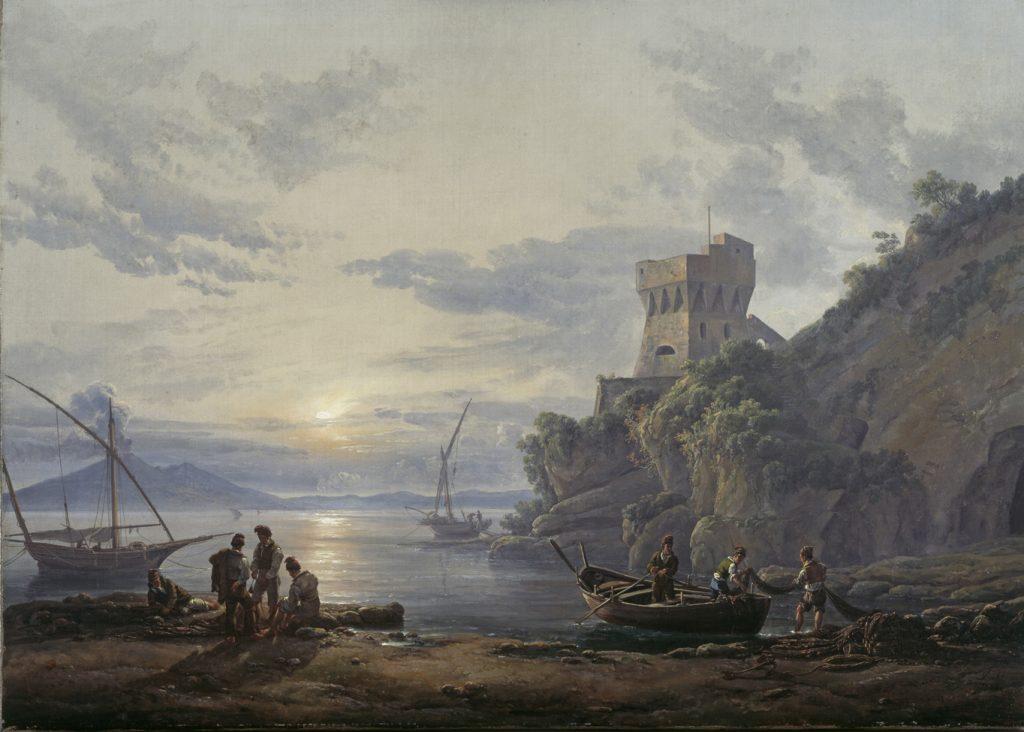 Johan Christian Dahl, Küste nahe Castellamare im Morgendunst, 1822, Kunstsammlungen Chemnitz