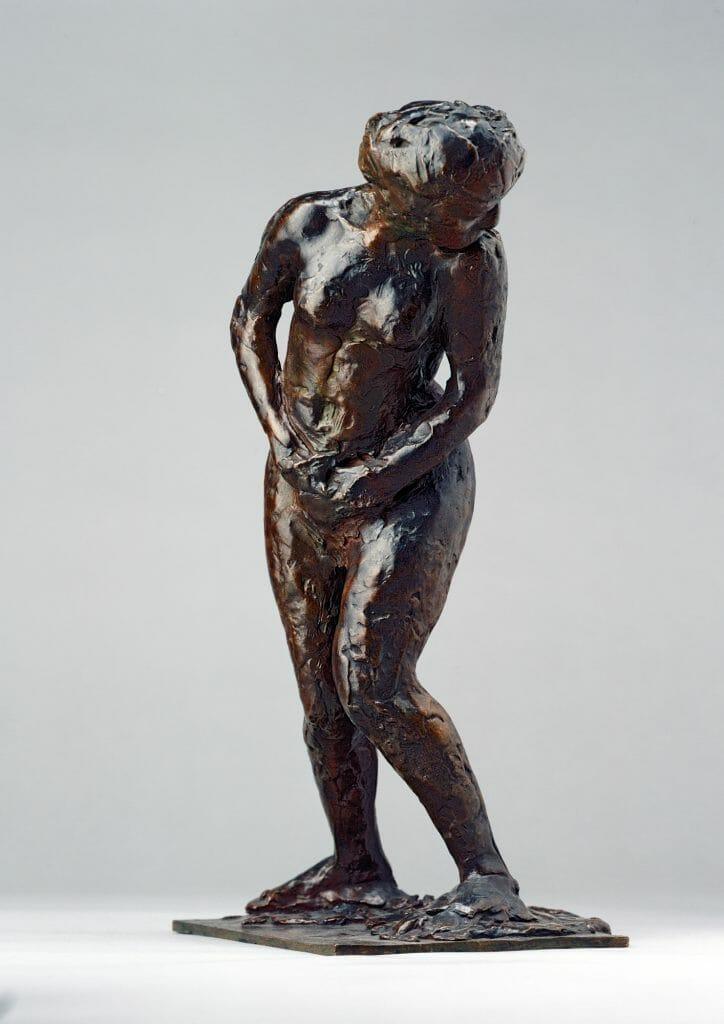 Edgar Degas (1834–1917), Femme surprise, 1896-1911/Guss 1921, Bronze, 40 x 28,5 x 20 cm, Kunstsammlungen Chemnitz, Foto: Kunstsammlungen Chemnitz/PUNCTUM/Bertram Kober