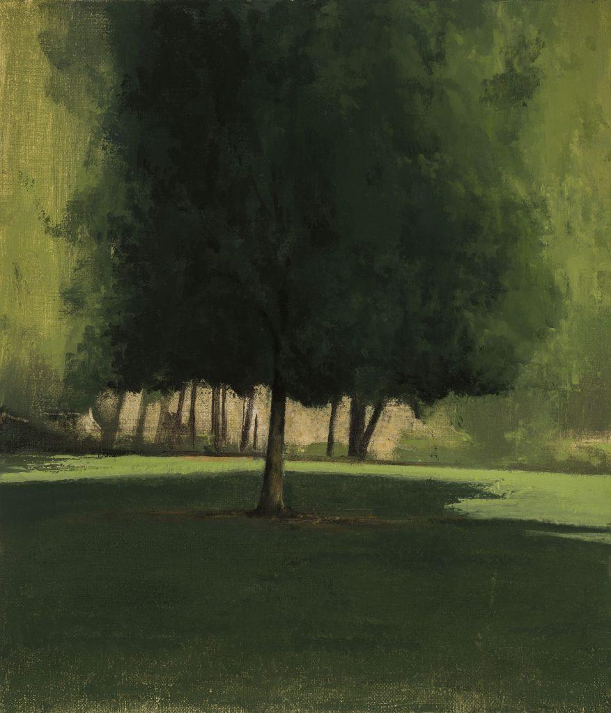 Eldar Farber, Small Mauer Park, 2019, Öl auf Leinwand , 28 x 24 cm  © Eldar Farber