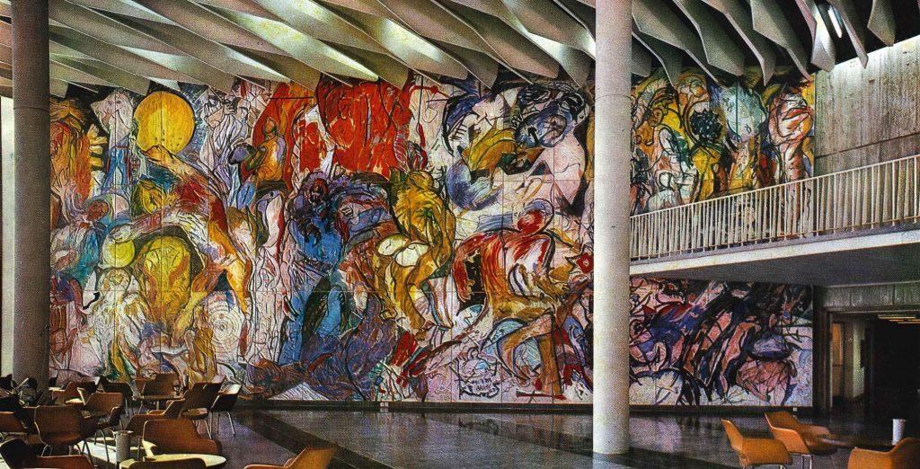 Horst Zickelbein, Wandbild im Foyer der Stadthalle in Karl-Marx-Stadt, 1969-74