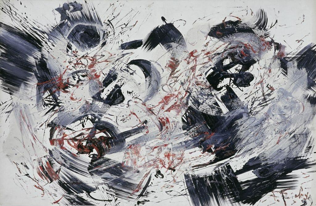 Fred Thieler (1916–1999), R.S. III/59, 1959, Mischtechnik auf Karton, 64,6 x 99,7 cm, Kunstsammlungen Chemnitz – Museum Gunzenhauser, Eigentum der Stiftung Gunzenhauser, Chemnitz, Foto: Kunstsammlungen Chemnitz – Museum Gunzenhauser/Archiv © VG Bild-Kunst, Bonn 2020