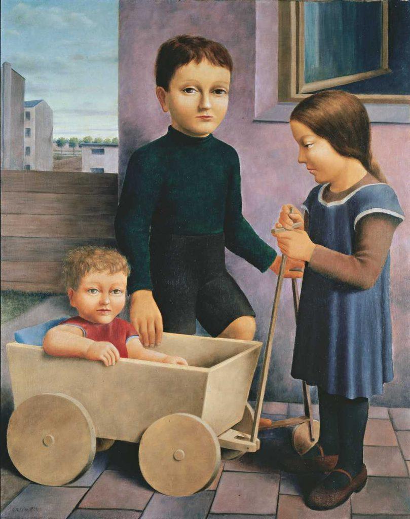 Georg Schrimpf, Drei Kinder, 1926, Öl auf Leinwand, 81 x 65,5 cm, Kunstsammlungen Chemnitz-Museum Gunzenhauser, Eigentum der Stiftung Gunzenhauser, Chemnitz, Foto: Archiv