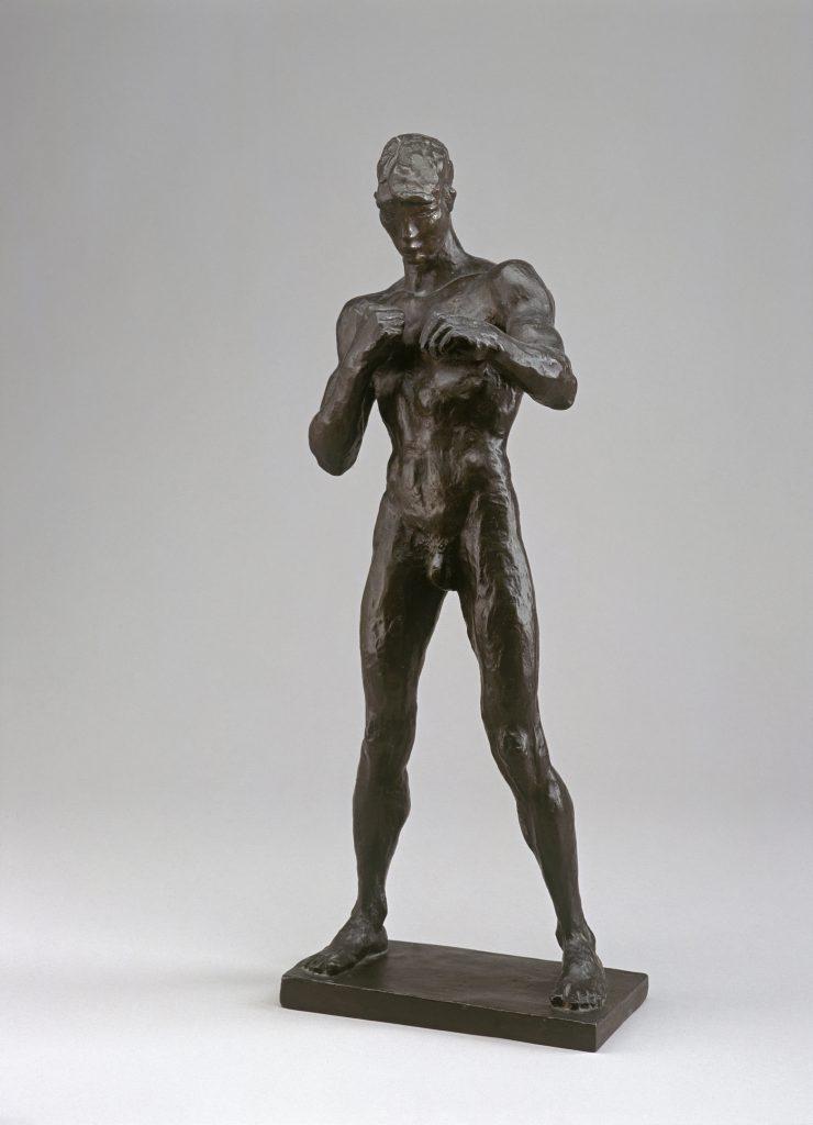 Renée Sintenis, Der Boxer Erich Brandl, 1925, Bronze, 39,2 x 17 x 16,5 cm, Kunstsammlungen Chemnitz-Museum Gunzenhauser, Eigentum der Stiftung Gunzenhauser, Chemnitz, Foto: Archiv © VG Bild-Kunst, Bonn 2021
