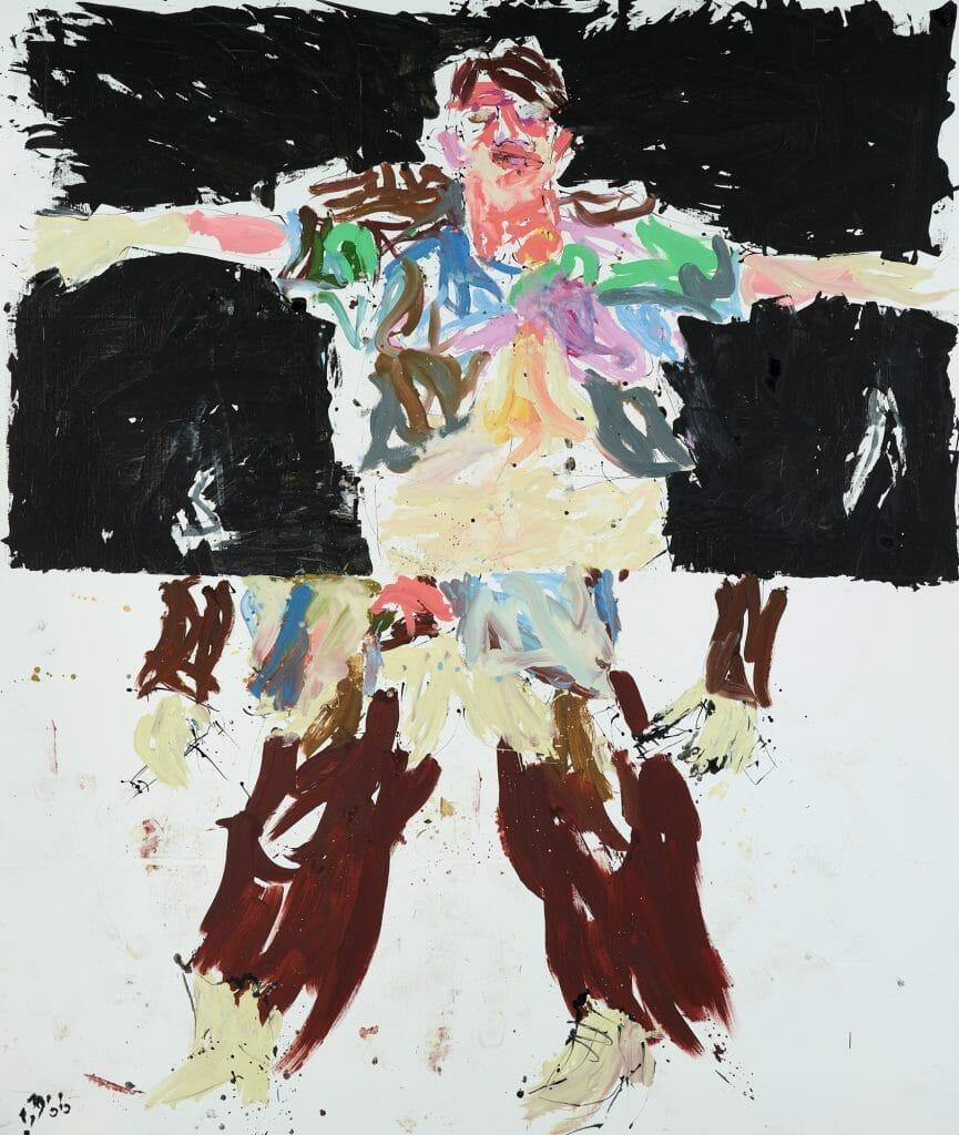 Georg Baselitz (*1938), Bandit, 2007, Öl auf Leinwand , 300 x 250 cm, Kunstsammlungen Chemnitz, Foto: Kunstsammlungen Chemnitz/PUNCTUM/Bertram Kober  © Georg Baselitz 2020