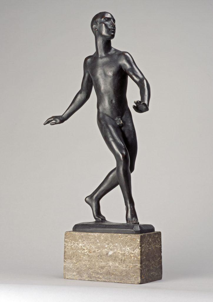 Georg Kolbe (1877–1947), Der Tänzer, 1913/Guss 1919, Bronze auf Steinsockel, 65,5 x 42 x 21,3 cm, Kunstsammlungen Chemnitz, Foto: Kunstsammlungen Chemnitz/PUNCTUM/Bertram Kober