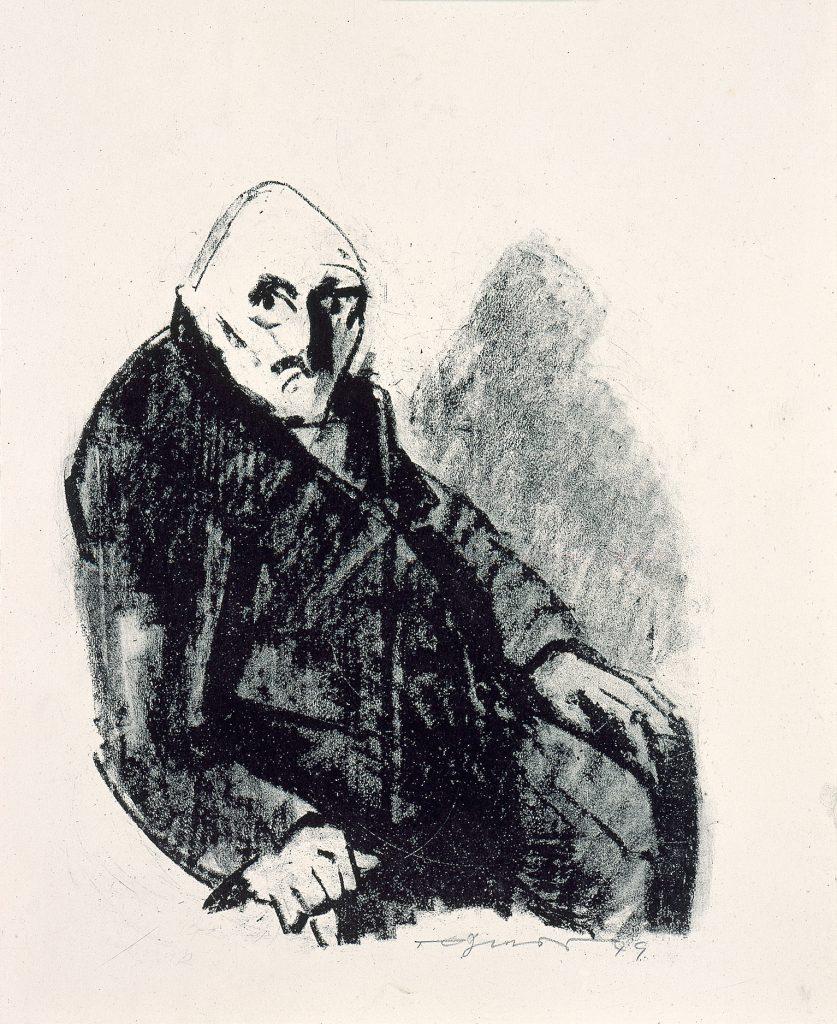 Heinz Tetzner (1920–2007), Bildnis eines alten Mannes, 1949, Lithografie, 50,9 x 36,6 cm, Kunstsammlungen Chemnitz, Foto: Kunstsammlungen Chemnitz/PUNCTUM/Bertram Kober