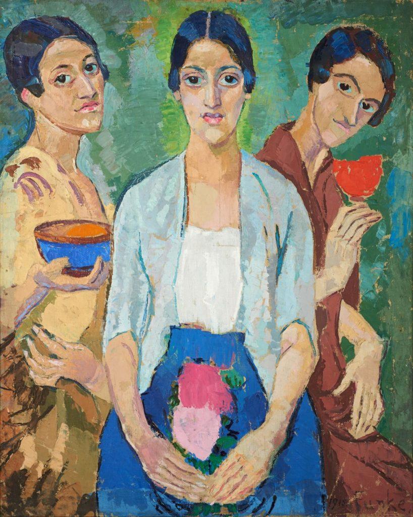 Helene Funke (1869–1957), Drei Frauen, 1915, Öl auf Leinwand, 98 x 81 cm, Lentos Kunstmuseum, Linz, Foto: Lentos Kunstmuseum, Linz © Lentos Kunstmuseum, Linz
