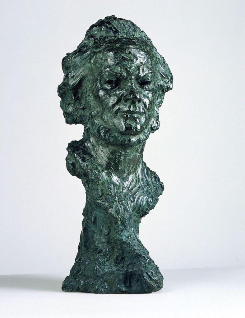 Honoré Daumier (1808–1879), Daumier par lui-même (Selbstbildnis), um 1855/Guss 1956, Bronze, 73 x 31,8 x 23,5 cm , Kunstsammlungen Chemnitz, Foto: Kunstsammlungen Chemnitz/PUNCTUM/Bertram Kober