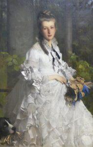 Julius Scholtz, Bildnis Helene Theresie Gräfin von Einsiedel-Wolkenburg, 1874