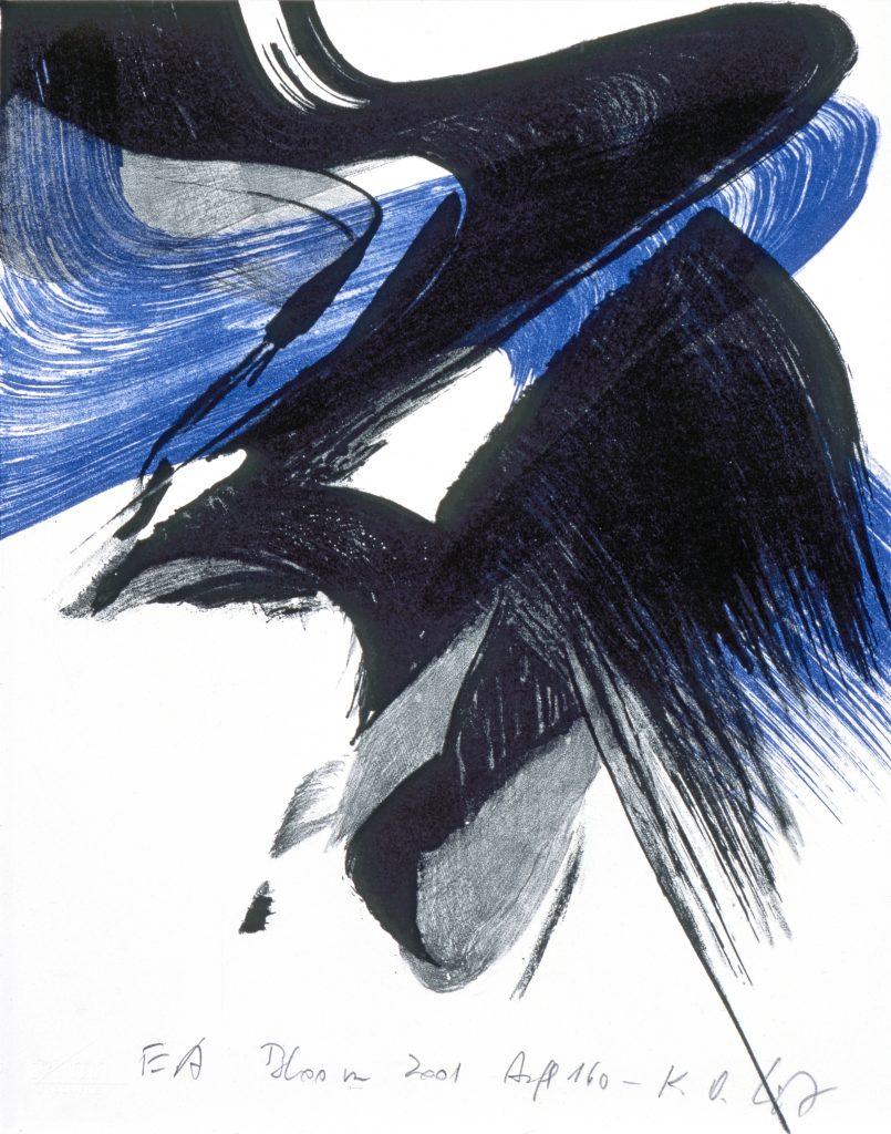 Karl Otto Götz (1914–2017), Bloon, 2001, Farblithografie, 27,4 x 21,3 cm, Kunstsammlungen Chemnitz, Foto: Kunstsammlungen Chemnitz/PUNCTUM/Bertram Kober © VG Bild-Kunst, Bonn 2020