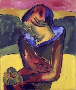 Karl Schmidt-Rottluff (1884–1976), Mädchen, 1920, Öl auf Leinwand, 91 x 76,3 cm, Kunstsammlungen Chemnitz, Foto: bpk/Kunstsammlungen Chemnitz/May Voigt © VG Bild-Kunst, Bonn 2020