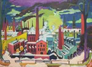 Ernst Ludwig Kirchner, Chemnitzer Fabriken, 1926