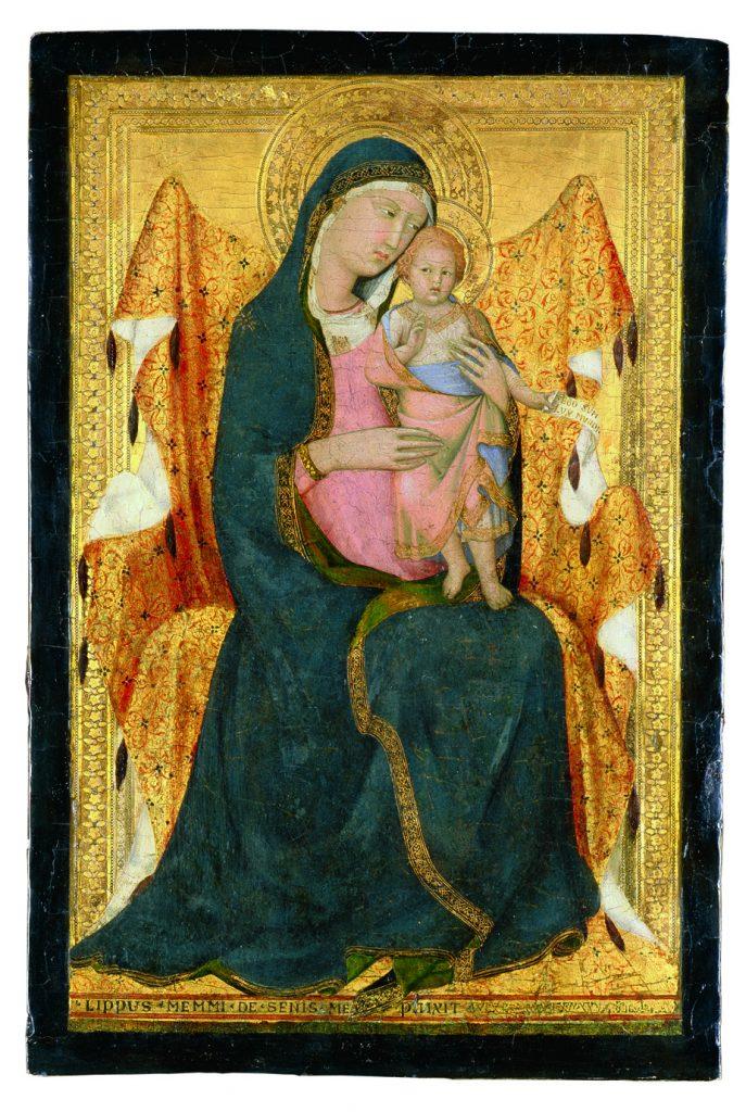 Lippo Memmi, Thronende Madonna mit Kind, um 1320m – 1322, Lindenau-Museum Altenburg, Foto: Bernd Sinterhaupt