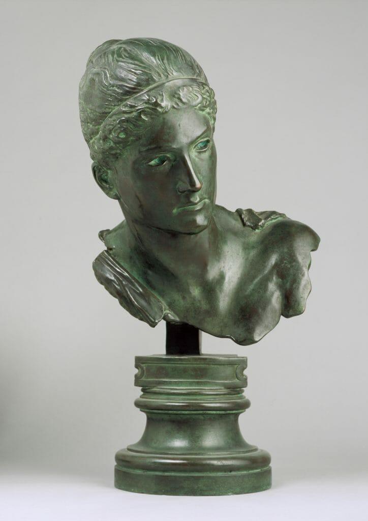 Max Klinger (1857–1920), Kassandra, 1895/Guss nach 1903, Bronze, 41,3 x 31,8 x 35,2 cm , Kunstsammlungen Chemnitz , Foto: Kunstsammlungen Chemnitz/PUNCTUM/Bertram Kober