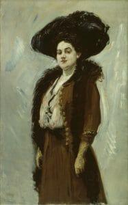 Max Slevogt, Dame in Braun (Else Bernau), 1908