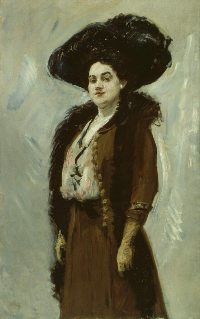 Max Slevogt (1868–1932), Dame in braun (Else Berna), 1908, Öl auf Leinwand , 140 x 90 cm , Kunstsammlungen Chemnitz, Foto: bpk/Kunstsammlungen Chemnitz/May Voigt