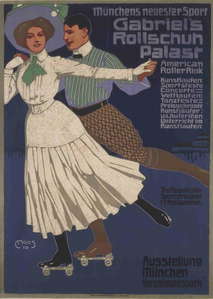 Carl Moos , Plakat für Gabriel's Rollschuh Palast, 1910, Foto: Kunstsammlungen Chemnitz/László Tóth