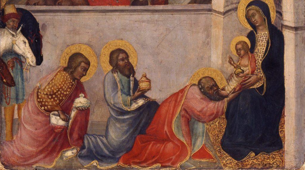 Paolo di Giovanni Fei (um 1345–um 1411), Anbetung der Heiligen Drei Könige, um 1395–1400, Lindenau-Museum Altenburg, Foto: Bernd Sinterhaupt © Lindenau-Museum Altenburg