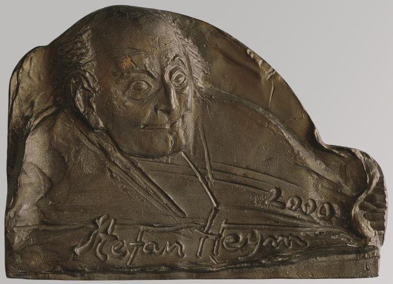 Peter G. Güttler, Medaille Stefan Heym, 2000, Weißmetall, Kunstsammlungen Chemnitz/Schloßbergmuseum, Foto: Kunstsammlungen Chemnitz/Schloßbergmuseum/May Voigt