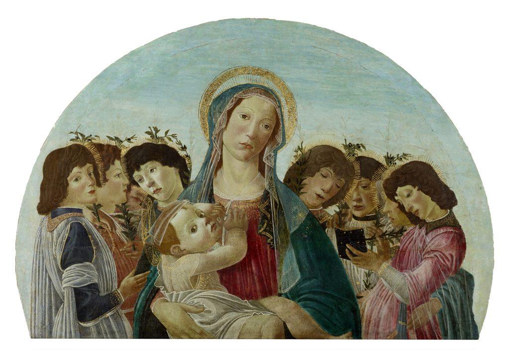 Sandro Botticelli (Werkstatt), Madonna mit Kind und Engeln, um 1480 – 1490, Lindenau-Museum Altenburg, Foto: Bernd Sinterhaupt