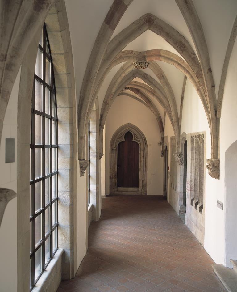 Schloßbergmuseum, Ostflügel des Kreuzgangs, um 1290/1300, Foto: Kunstsammlungen Chemnitz/Schloßbergmuseum/László Tóth
