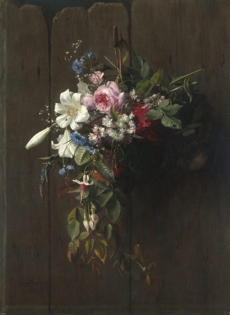 Clara von Sievers, Blumenstilleben, 1877, Öl auf Leinwand, Kunstsammlungen Chemnitz