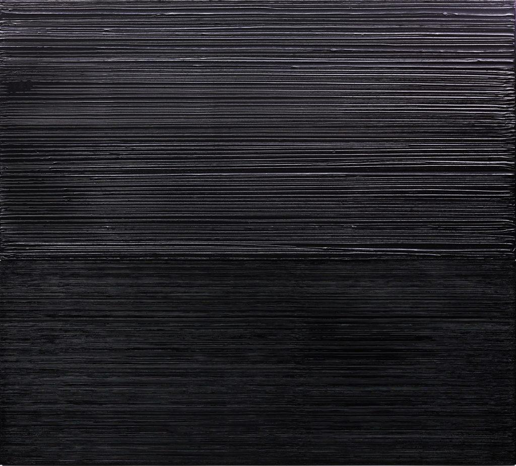 Pierre Soulages (*1919), Peinture, 163 x 181 cm, 17 Décembre 2004, 2004, LWL-Museum für Kunst und Kultur, Westfälisches Landesmuseum, Münster, Foto:  LWL-Museum für Kunst und Kultur, Westfälisches Landesmuseum, Münster / Hanna Neander © © VG Bild-Kunst, Bonn 2020