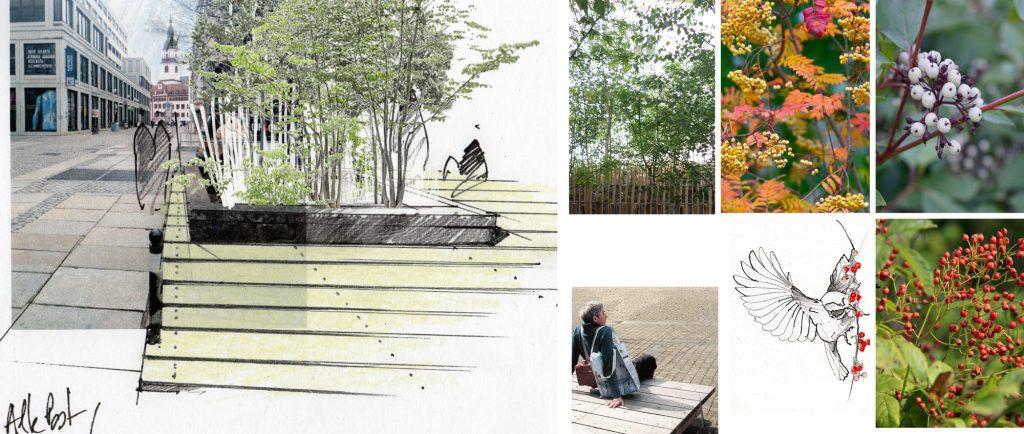 atelier le balto, Neun neue Gärten, Konzept und Planungsstudie, 2019 © Entwurf: atelier le balto, Landschaftsarchitekten