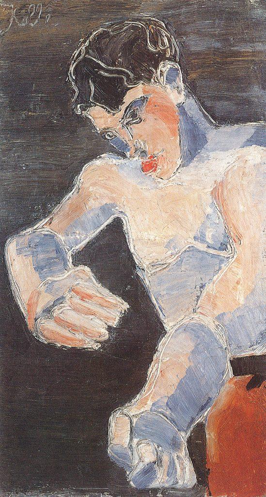 Helmut Kolle, Selbstbildnis (Junger Boxer), 1925, Öl auf Leinwand, 81,3 x 45,4 cm, Kunstsammlungen Chemnitz-Museum Gunzenhauser, Eigentum der Stiftung Gunzenhauser, Chemnitz, Foto: Archiv